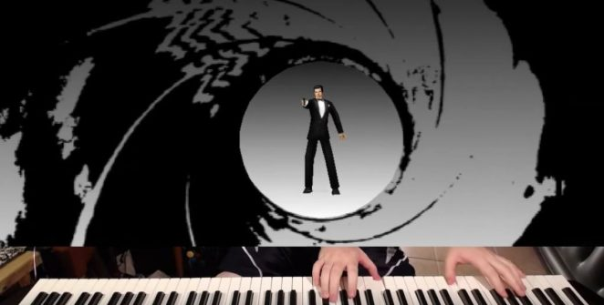 Brave musical hero speedruns 'GoldenEye' level with a piano