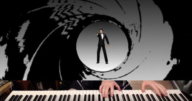 Brave musical hero speedruns 'GoldenEye' level with a piano